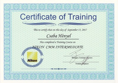 Adames certificate of training 2017s